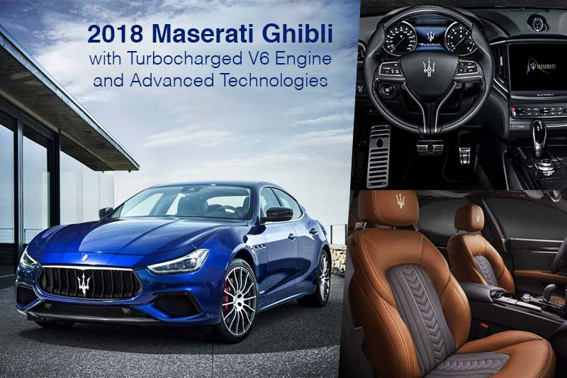 2018 Maserati Ghibli with Turbocharged V6 Engine and Advanced Technologies