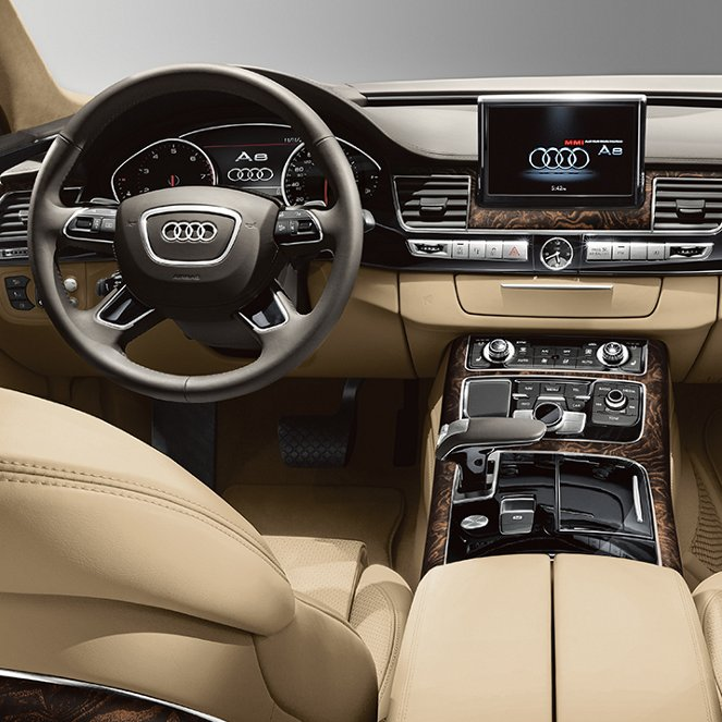 Interior of 2018 Audi A8