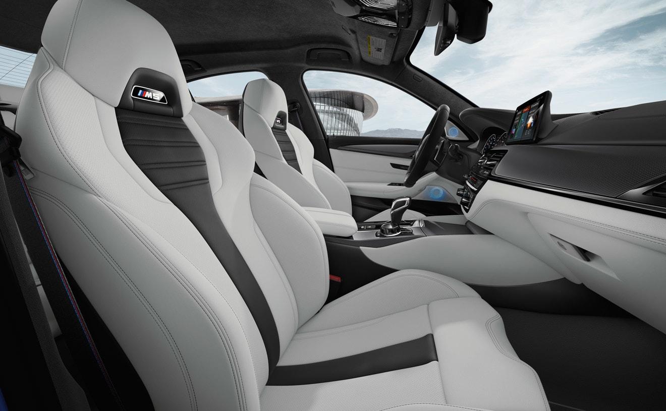Interior of 2018 BMW M5
