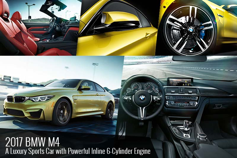 2017 BMW M4 Car With 6 Cylinder Engine